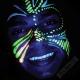 Barvy na obličej svítící ve tmě - sada