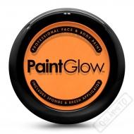 Obličejová barva s houbičkou a štětcem oranžová