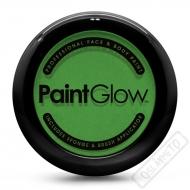 Obličejová barva s houbičkou a štětcem zelená