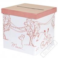 Svatební krabice na peníze a přání Romance