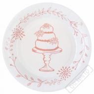 Papírové svatební talíře Romance