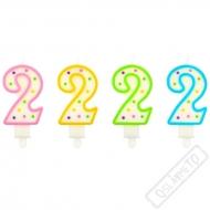 Narozeninová svíčka na dort číslo 2