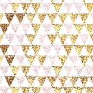 Papírové party ubrousky Rose-Gold Triangle