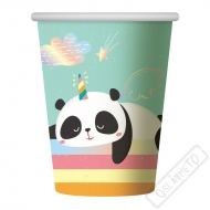 Papírové party kelímky Panda Rainbow