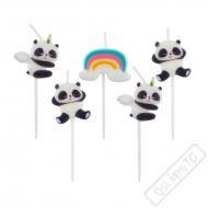 Dortové narozeninové svíčky Panda