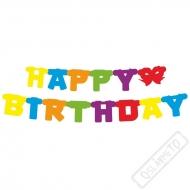 Narozeninová girlanda Happy Birthday Color