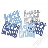 Dekorační konfety na stůl narozeninové modré