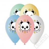 Latexový balónek s potiskem Panda barevný mix