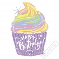 Nafukovací balón fóliový Cupcake Pastel 69cm