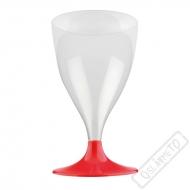 Plastové skleničky na víno Ruby Red