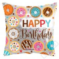 Narozeninový balónek polštářek Donuts 46cm