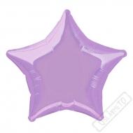 Nafukovací balónek fóliový Hvězda lila 45cm