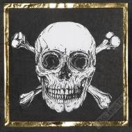 Papírové party ubrousky Pirát Gold