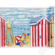 Stolová šerpa z netkané textilie Pláž