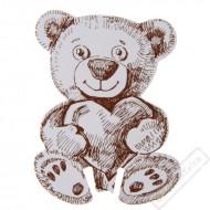 Papírové jmenovky na skleničku Medvídek