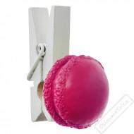 Dekorační kolíčkeks makronkou růžový