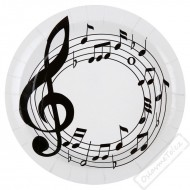Papírové party talíře Music