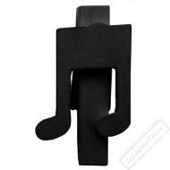 Dekorační kolíček s notou černý
