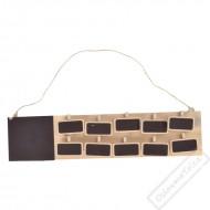 Dřevěná tabulka na zasedací pořádek