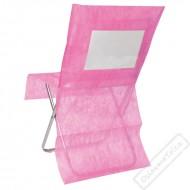Univerzální potah na židli s kapsou bílý
