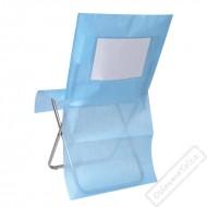 Univerzální potah na židli s kapsou modrý