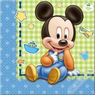 Papírové party ubrousky Mickey Baby