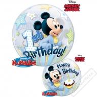 Nafukovací balón bublina Mickey 1 rok