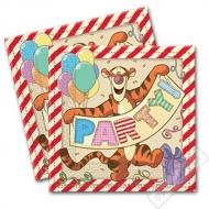 Papírové party ubrousky Medvídek Pú