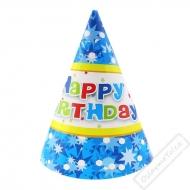 Papírové party kloboučky Blue Star