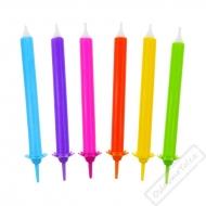 Dortové svíčky se stojánky Rainbow