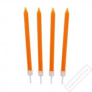 Barevné svíčky na dort oranžové