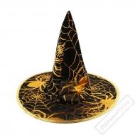 Čarodějnický klobouk se zlatou pavučinou