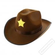 Kovbojský klobouk hnědý