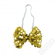 Flitrový party motýlek zlatý