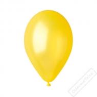 Metalický nafukovací balónek latex žlutý