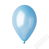 Metalický nafukovací balónek latex azurový
