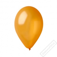 Metalický nafukovací balónek latex zlatý