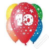 Nafukovací balónky latex s číslem 10 mix