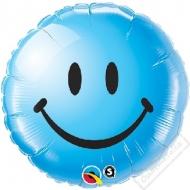 Nafukovací balónek fóliový Smile modrý