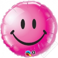 Nafukovací balónek fóliový Smile růžový