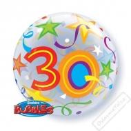 Nafukovací balón bublina s číslem 30