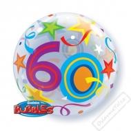 Nafukovací balón bublina s číslem 60