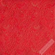 Luxusní papírové ubrousky Elegance červené