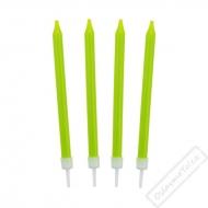 Barevné svíčky na dort zelené