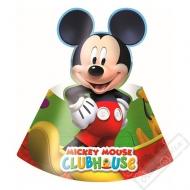 Papírové party kloboučky Mickey Mouse