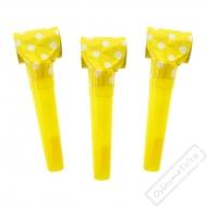 Narozeninová frkačka s puntíky žlutá