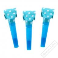 Narozeninová frkačka s puntíky modrá
