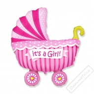 Nafukovací balón fóliový Kočárek Girl