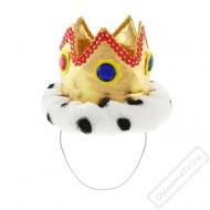 Královská koruna plyšová