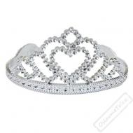 Korunka pro princeznu stříbrná se srdíčkem